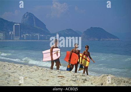 copacabana beach city of rio de janeiro brazil - Stock Photo