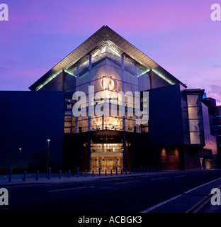 bridgewater concert hall at evening city of manchester county of lancashire england great britain editorial use - Stock Photo