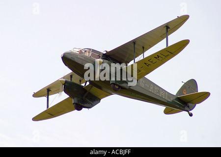 De Havilland DH89A Dragon Rapide - Stock Photo