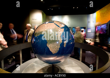 The Peabody Museum at Yale University 4 foot earth globe is one of the most accurate globes in the world - Stock Photo
