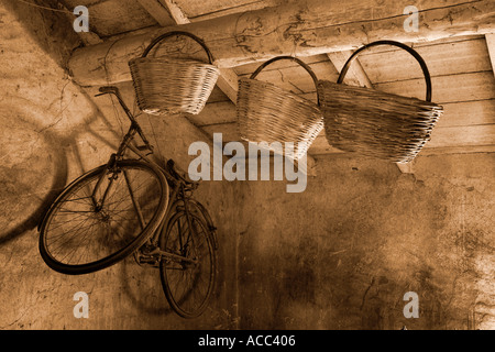 Old country house Val Trebbia Italy - Stock Photo