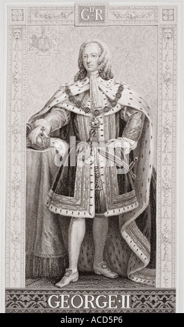 George II 1683 1760 King of England 1727 1760 - Stock Photo