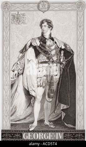 George IV 1762 1830 King of Great Britain and Ireland and King of Hanover 1820 1830 - Stock Photo