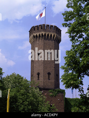 geography / travel, Germany, North Rhine-Westphalia, Cologne, building, architecture, Malakoff tower, exterior view - Stock Photo