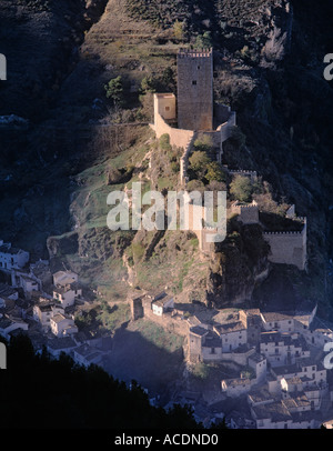Cazorla Jaen Province Spain View to town and castle - Stock Photo