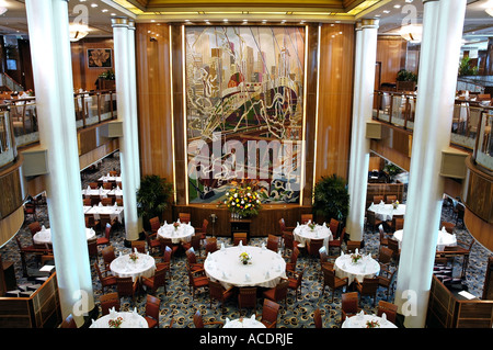 Dining Room Huge Britannia Restaurant On Board Cruise Ship Queen Mary 2