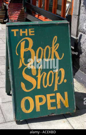 Sign outside one of many bookshops in Wigtown Dumfries and Galloway Scotland Wigtown is Scotland s booktown - Stock Photo