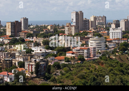 Polana District, to East and Maputo Bay, Maputo, Mozambique, South East Africa - Stock Photo