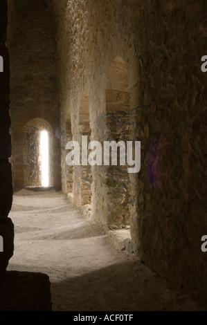 North-east tower interior Kantaram Kalesi, Castle, Northern Cyprus, Europe - Stock Photo