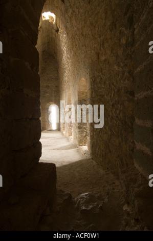 North-east tower interior Kantara, Kalesi, Castle, Northern Cyprus, Europe - Stock Photo