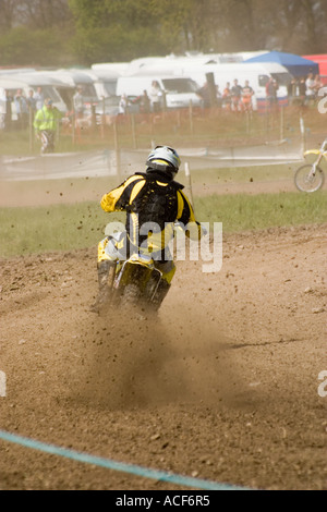 Motocross riders during race - Stock Photo