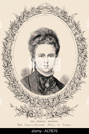 Grand Duchess Maria Alexandrovna of Russia, 1853 - 1920. Later Duchess of Edinburgh and Duchess of Saxe-Coburg and - Stock Photo