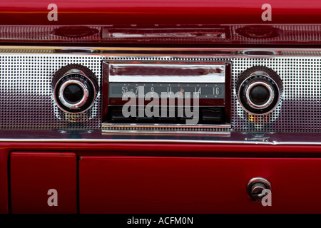 Old car audio in a american car - Stock Photo
