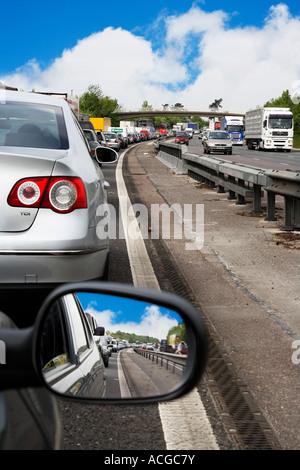 Traffic jam on M11 - Stock Photo