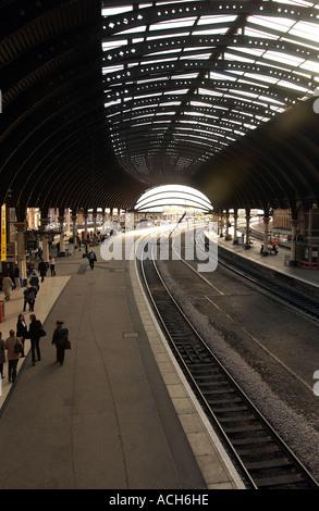 York Railway Station, UK (1) - Stock Photo