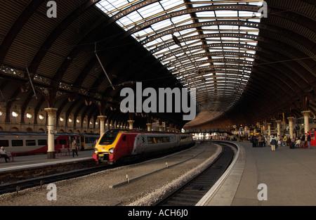 York Railway Station, UK (2) - Stock Photo