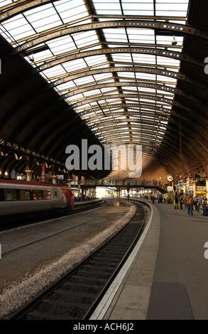 York Railway Station, UK (3) - Stock Photo