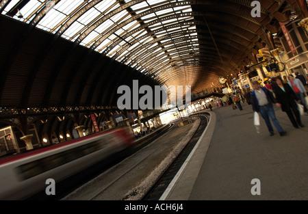 York Railway Station, UK (4) - Stock Photo