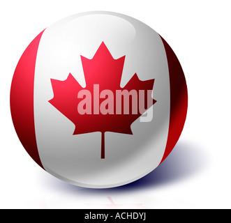 Canada flag as a glass ball - Stock Photo