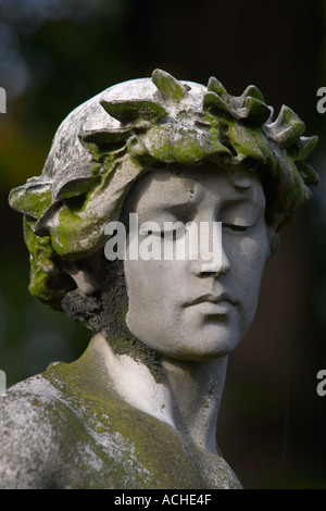 Statue at Brompton Cemetery London England - Stock Photo