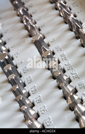 Torx ratchet bolt driver set in holder - Stock Photo