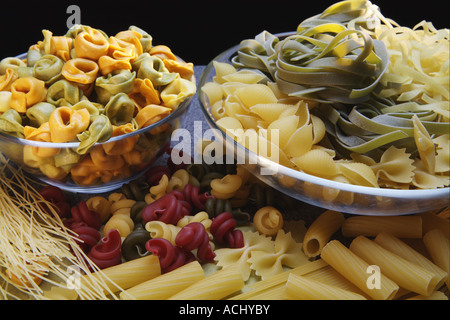 Various Italian pasta on the table Still life - Stock Photo