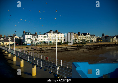 Havre des Pas swimming pool is a Victorian outdoor pool situated in St Helier Jersey - Stock Photo