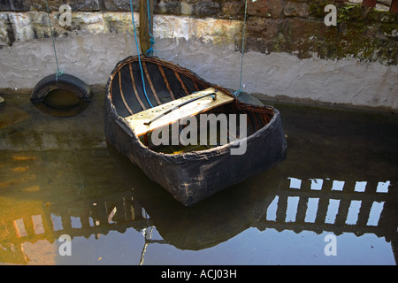Coracle at the Gower Heritage Centre, Gower, Wales, UK - Stock Photo