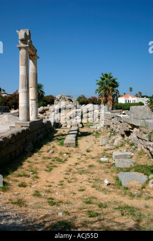 The ancient Agora Market entrance in Kos town on the Greek island of Kos in the Aegean.