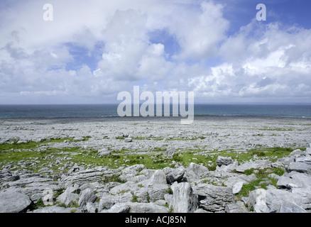 Burren, Fanore, Black Head, West of Ireland Burren way, Ireland - Stock Photo