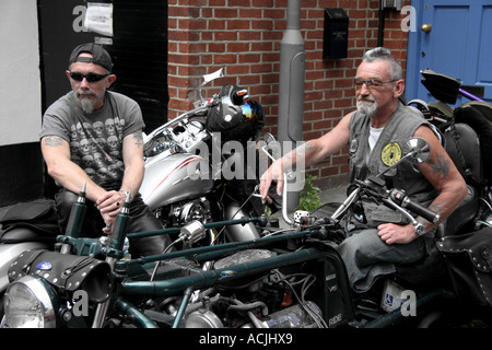 aging hells angels - Stock Photo