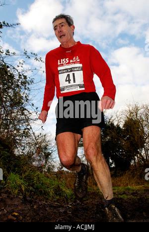 pic martin phelps 14 01 07 pewsey milton lilbourne cross country run rough and tumble - Stock Photo
