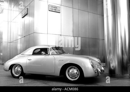 Porsche Speedster at Canada Tower Docklands london UK - Stock Photo