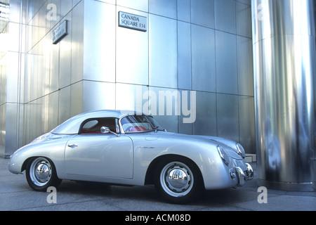 Porsche speedster at Canada Tower Docklands London - Stock Photo