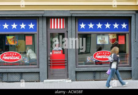 Burger place in Tallinn - Stock Photo