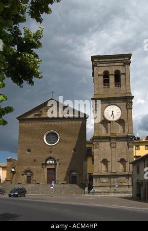 Viterbo, Lazio, Italy. Church of Santa Maria della Quercia, east of the town. Facade - Stock Photo