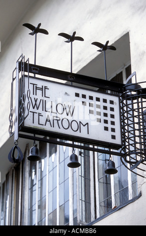 Scotland Glasgow The Willow Tea Rooms designed by the famous architect Charles Rennie Mackintosh - Stock Photo