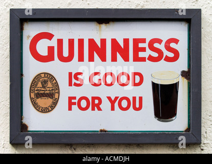 Guinness is good for you advert at Bunratty Folk Park Co Clare Ireland - Stock Photo