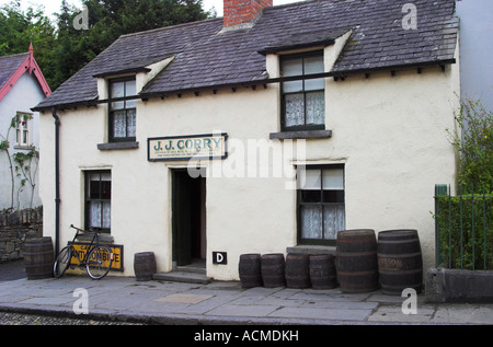 J J Corry A recreation of a typical 19th Century Pub at Bunratty Folk Park Co Clare Ireland - Stock Photo