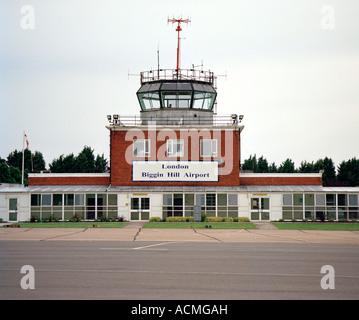 Biggin Hill Airport control tower, Bromley, Kent, London, England, UK. - Stock Photo