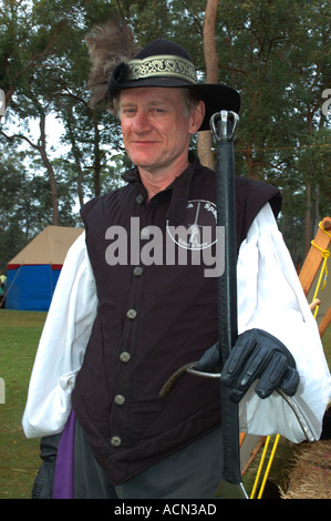 16th 17th Century Swordsman With Great Sword Two Handed