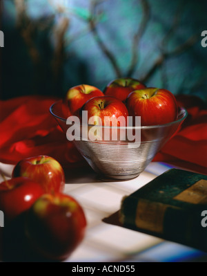 Bowl of Gala Apples - Stock Photo