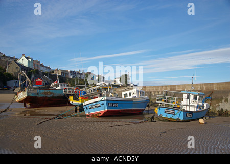 New Quay Harbour, West Wales, UK - Stock Photo