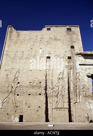 Temple of Horus, Edfu, Egypt - Stock Photo