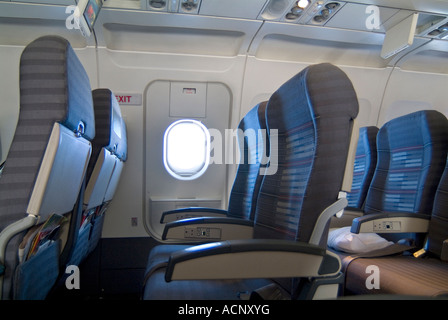 Emergency Exit Row In Airplane Stock Photo Royalty Free