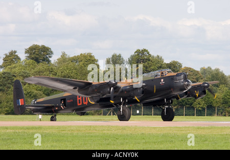 Preserved Royal Air Force Avro Lancaster B1 World War Two heavy bomber aircraft at RAF Fairford - Stock Photo