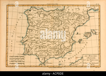 Historical Map Spain Portugal Stock Photo Royalty Free Image - Portugal historical map