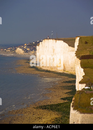 france picardy somme cote picardie holiday coastal resort of AULT - Stock Photo