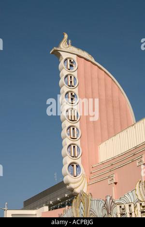 Art Deco Fremont Theater in downtown San Luis Obispo, California - Stock Photo