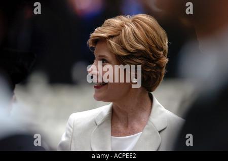 Barbara Bush first lady wife spouse of President George W Bush - Stock Photo